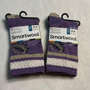 (2) NEW SmartWool Non- Cushion Crew women's Socks